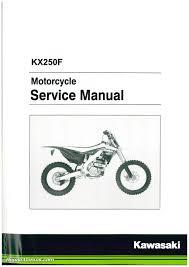 kawasaki kx250f manual ebay