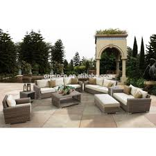 luxury round rattan large garden use 8 seater sofa set and wicker