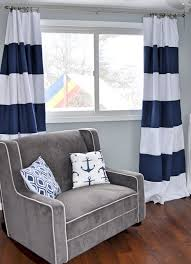 Blue And Striped Curtains Custom Navy Blue Striped Curtains Stripes Color Blocked
