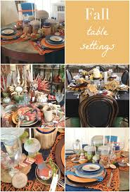 Fall Table Settings by Fall Ideas House 2014 The Crazy Craft Lady
