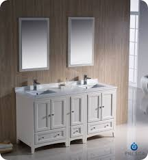 Bathroom With Two Vanities Fresca Oxford 60