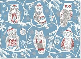 owl christmas wrapping paper santa owls boxed christmas cards greeting cards co uk