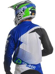 Evolve Ar Blue White Mx Answer Motocross Gear Evolve Ar Blue