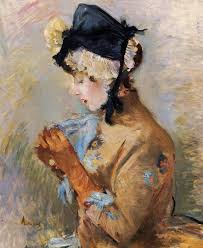 berthe morisot woman wearing gloves aka the parisian 1885