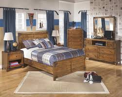 signature design by ashley cole twin panel bed in rustic pine