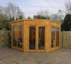 Garden Summer Houses Corner - x 9 waltons premier corner summerhouse