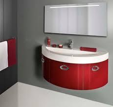 Gray And Red Bathroom Ideas - bathroom ideas rectangular white contemporary modern wall