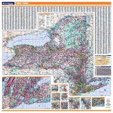 New York State Counties Map by New York Laminated State Wall Map