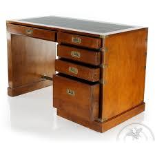 bureau en bois bureau bois et cuir officier 5 tiroirs saulaie