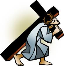 jesus carrying the cross clipart clipartxtras