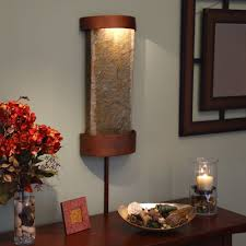 Water Fountain Home Decor Slate Water Fountain Indoor Table Top Waterfall Wall Mount Lighted