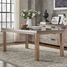 Shop Cassidy Stainless Steel Top Rectangle Dining Table by iNSPIRE Q