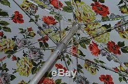 Vinyl Patio Umbrella Vtg Vinyl Patio Umbrella Flower Tilt Fringe Mid Century Modern