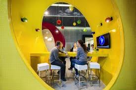 Google Ireland Office Unique Lighting Fixtures Highlighting Colorful And Playful Google