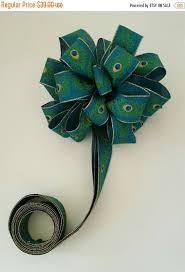 peacock ribbon on sale peacock ribbon christmas tree topper by shannonkristina