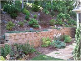 Concrete Block Garden Wall by Backyards Trendy Waterfall With A Ledgecut Strip Retaining Wall