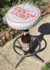 coors light bar stools sale vintage new in plastic chrome coors light bottle cap bottle pedestal