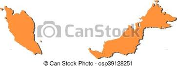 map malaysia vector map malaysia map of malaysia filled in orange clipart vector