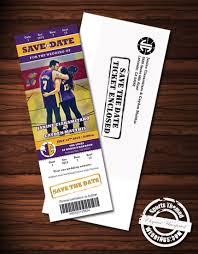 Save The Date Wedding Magnets Sports Themed Weddings Custom Designed Deluxe Wedding Invitation