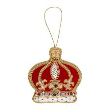 crystal red crown christmas tree decoration tree decorations