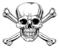 vintage skull and crossbones sign stock vector illustration of