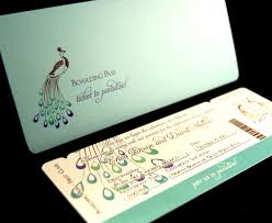 ticket save the date peacock boarding pass by anaderoux on zibbet