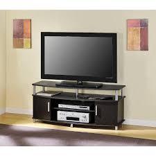 Tv Stands Amazon Com Essential Home Leno Chrome Trimmed Media Tv Stand