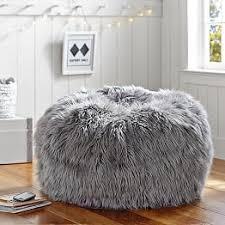 gray fur rific beanbag decoração pinterest bean bag chairs
