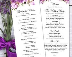 make your own wedding programs make wedding program etsy