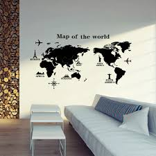 Map Wall Decor by Wall Decoration Map Of The World Wall Sticker Lovely Home