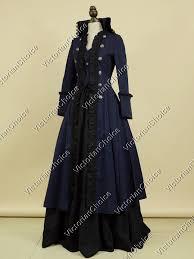 Navy Halloween Costume Victorian Edwardian Game Thrones Coat Dress Punk Halloween