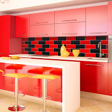 Red And White Kitchen by Tiles And Paints Combination For Kitchen Natural Home Design