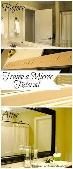 framing bathroom mirror ideas best 25 framed bathroom mirrors ideas on framing a