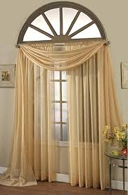 Black And Gold Drapes by Elegance Sheer Curtain Voile Scarf Panels Gold Stylemaster