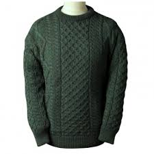 green sweaters o connell s clothing mens sweaters fisherman knit