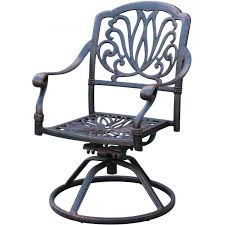 darlee elisabeth cast aluminum patio swivel rocker dining chair