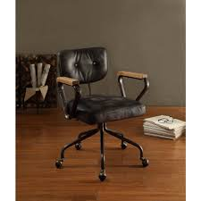 Black Leather Office Chair Acme Furniture Hallie Top Grain Leather Office Chair In Vintage