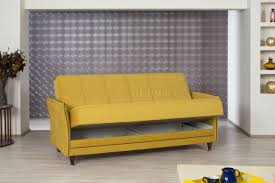sofa bed in mustard fabric by casamode w options