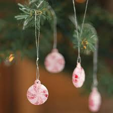 artificial peppermint ornaments ornaments