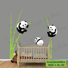 panda bear wall decal bamboo wall sticker repositionable zoom
