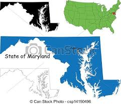 maryland map vector maryland map state of maryland usa eps vectors search clip