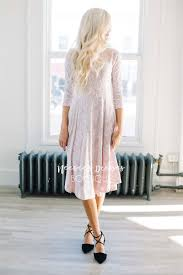 beautiful clothes in lace dress in blush pink modest dress for nursing
