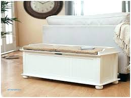 storage bench with cushion no sew bench cushion one option using White Bench With Storage