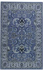 Area Rug Blue Area Rugs Blue Rectangle Blue Grey Traditional Floral Pattern