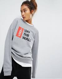 vans custom culture vans anthem sweatshirt with off the wall logo