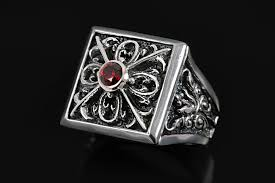gothic ruby rings images Bottega gothic oxidized sterling silver ring with ruby mr 059 jpg