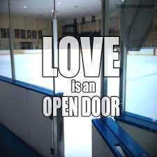 Door Meme - love is an open door to an ice rink upper corner hockey