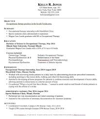 Pre Med Resume Sample by Chic Idea Occupational Therapy Resume 3 Sample Occupational