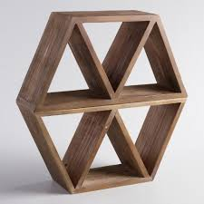 geometric wood wall storage world market