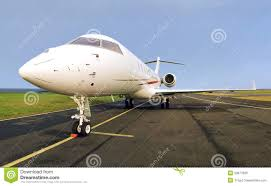 luxury private jet plane side view royalty free stock image